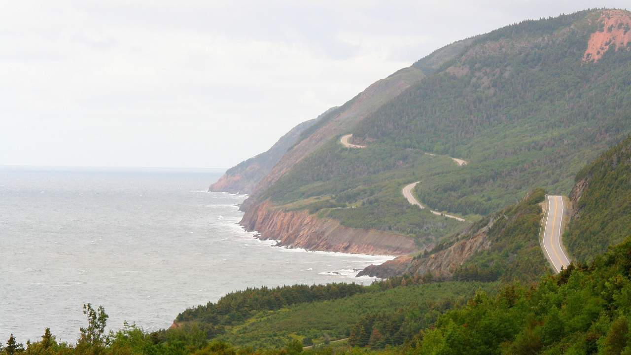 Cabot Trail in Cape Breton Highlands National Park