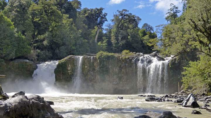 Waterval in Puyehue nationaal park