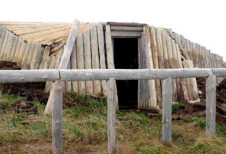 traditioneel huis in Tuktoyaktuk - Yukon