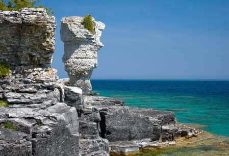 Flower Pot Rock, Bruce Peninsula